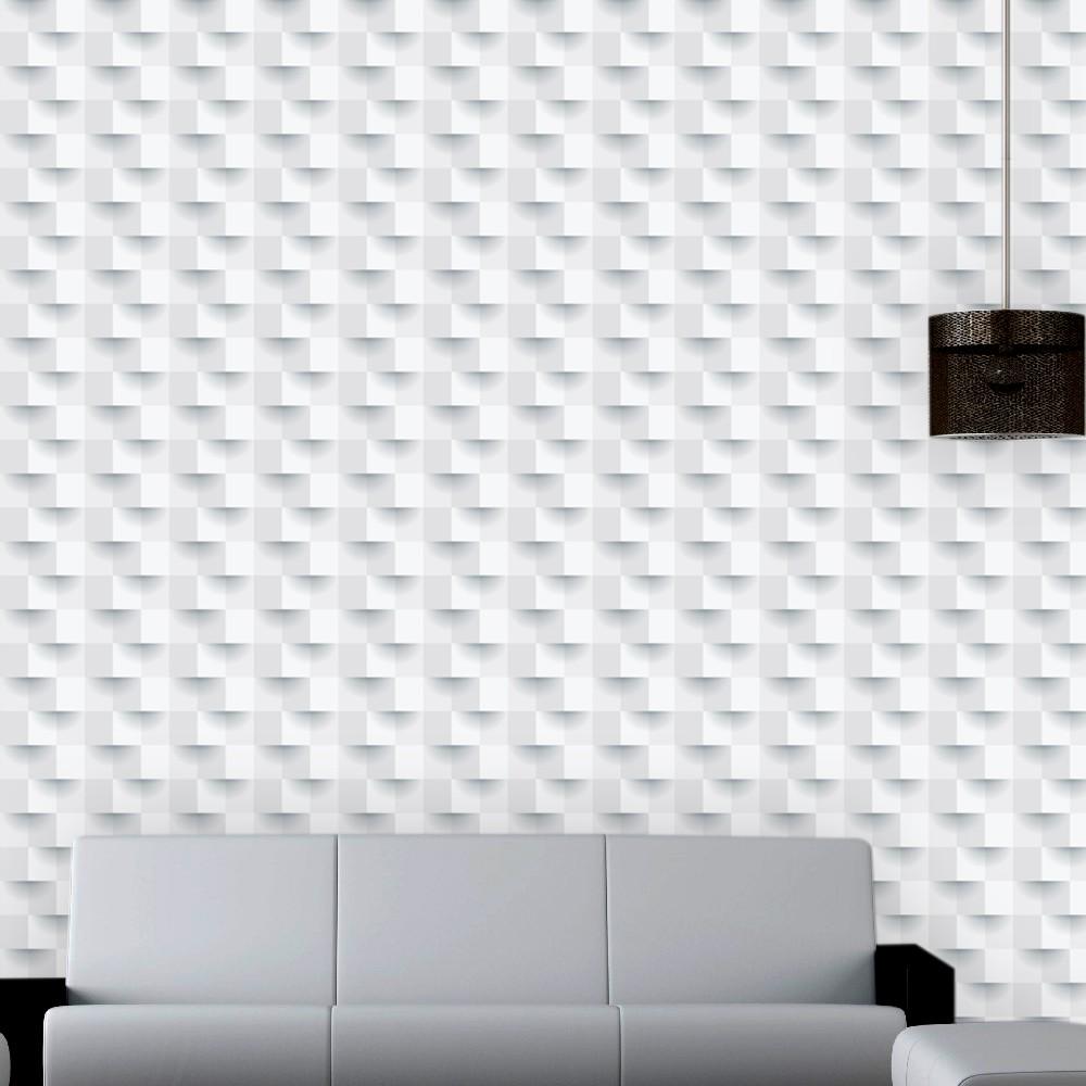 Papel de Parede ADESIVO - 3D branco