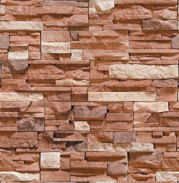 Papel de Parede ADESIVO - 3D pedras