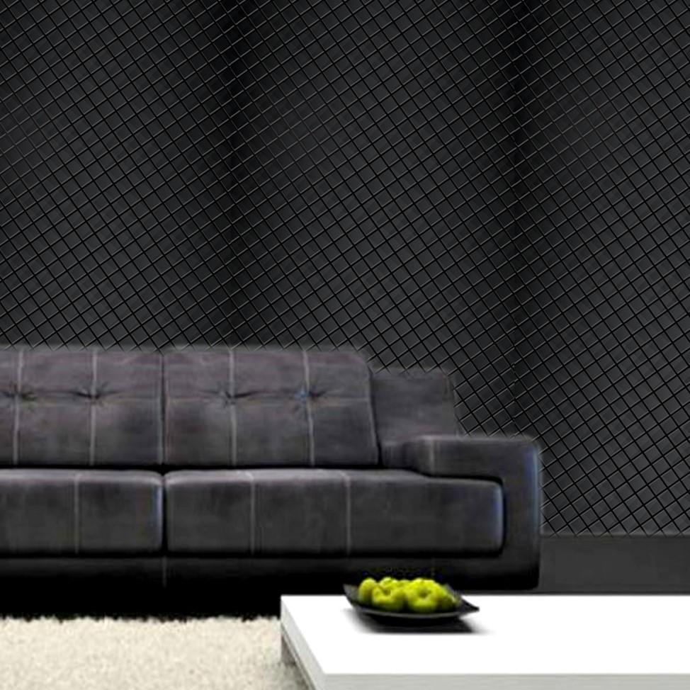 Papel de Parede ADESIVO - 3D preto