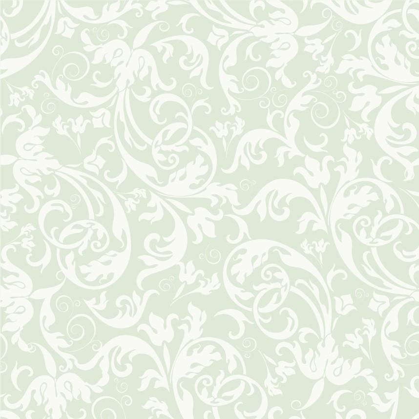 Papel de Parede ADESIVO - arabesco folhagem verde