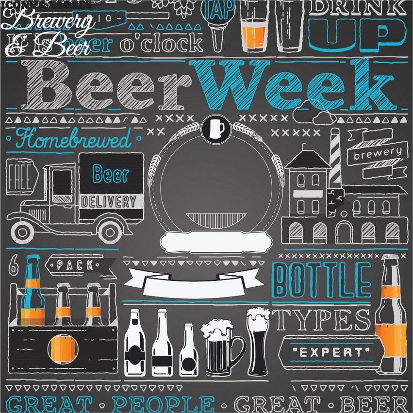 Papel de Parede ADESIVO - beer week