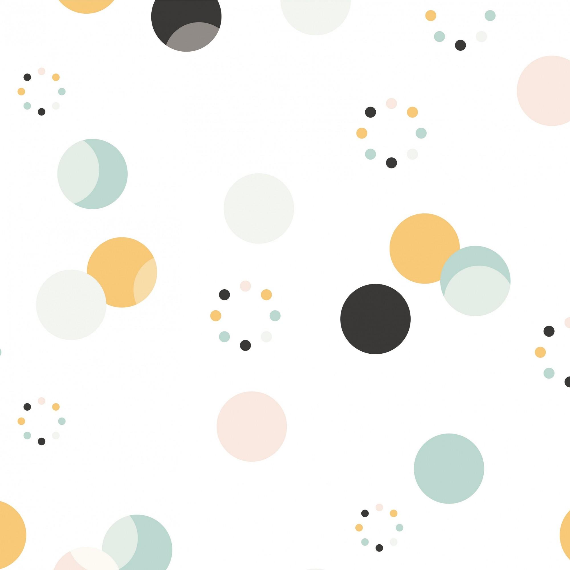 Papel de Parede Adesivo - Bolinhas coloridas