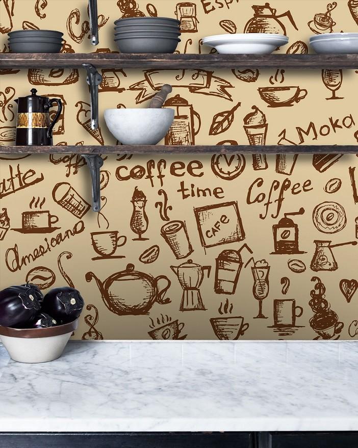 Papel de Parede ADESIVO - coffee
