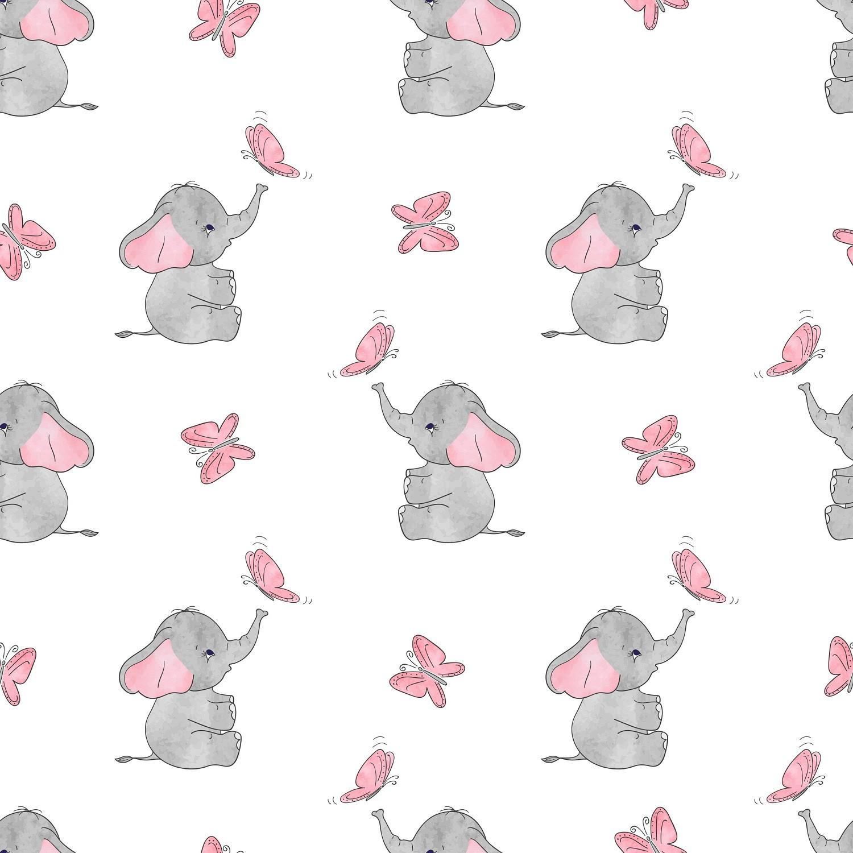Papel de Parede ADESIVO - Elefantinho