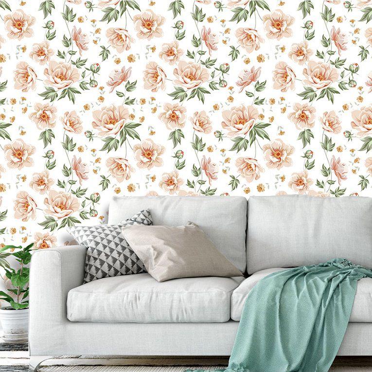 Papel de Parede ADESIVO - floral