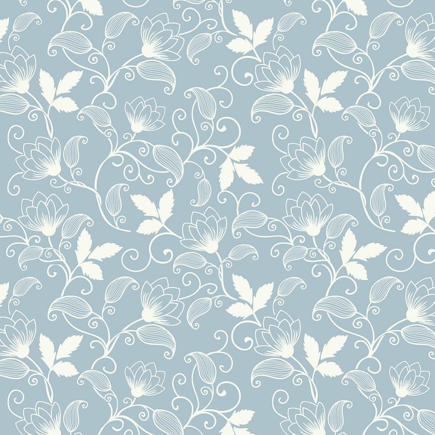 Papel de Parede ADESIVO - Floral arabesco