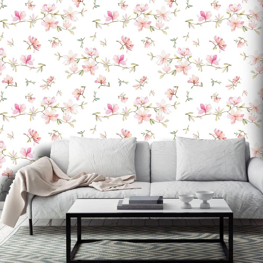 Papel de Parede ADESIVO - floral delicado