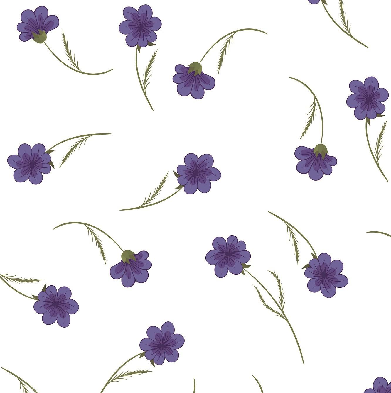 Papel de Parede ADESIVO - Floral roxo