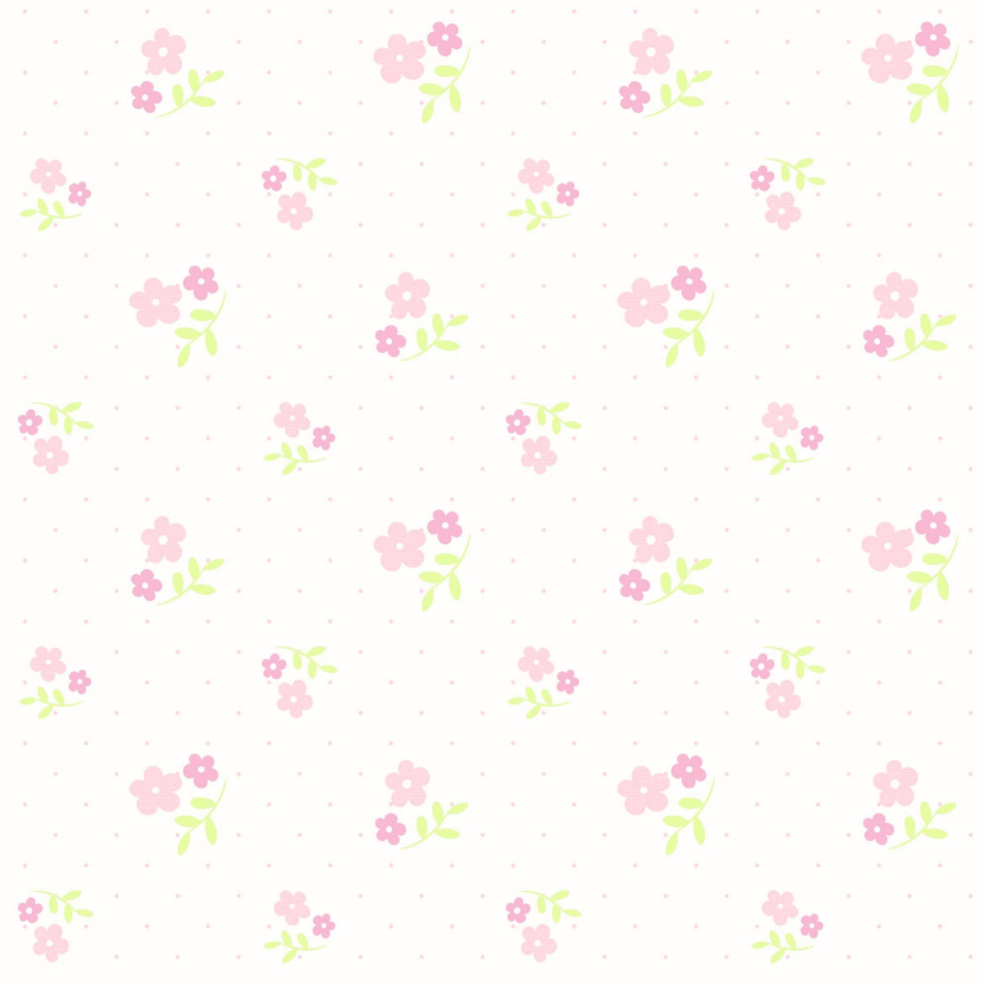 Papel de Parede ADESIVO - flores delicadas