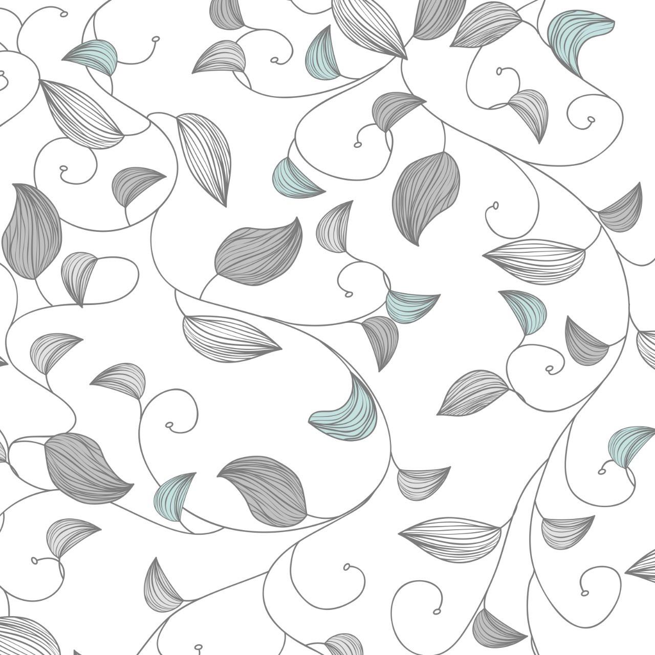 Papel de Parede ADESIVO - Folhas desenhadas