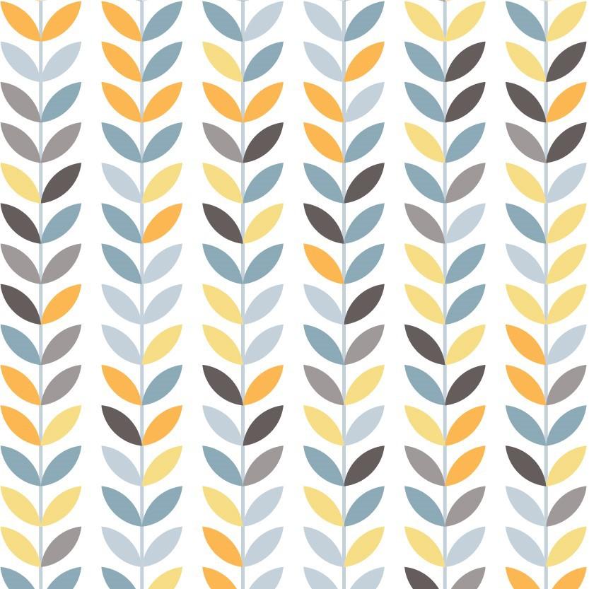 Papel de Parede ADESIVO - Folhas simétricas