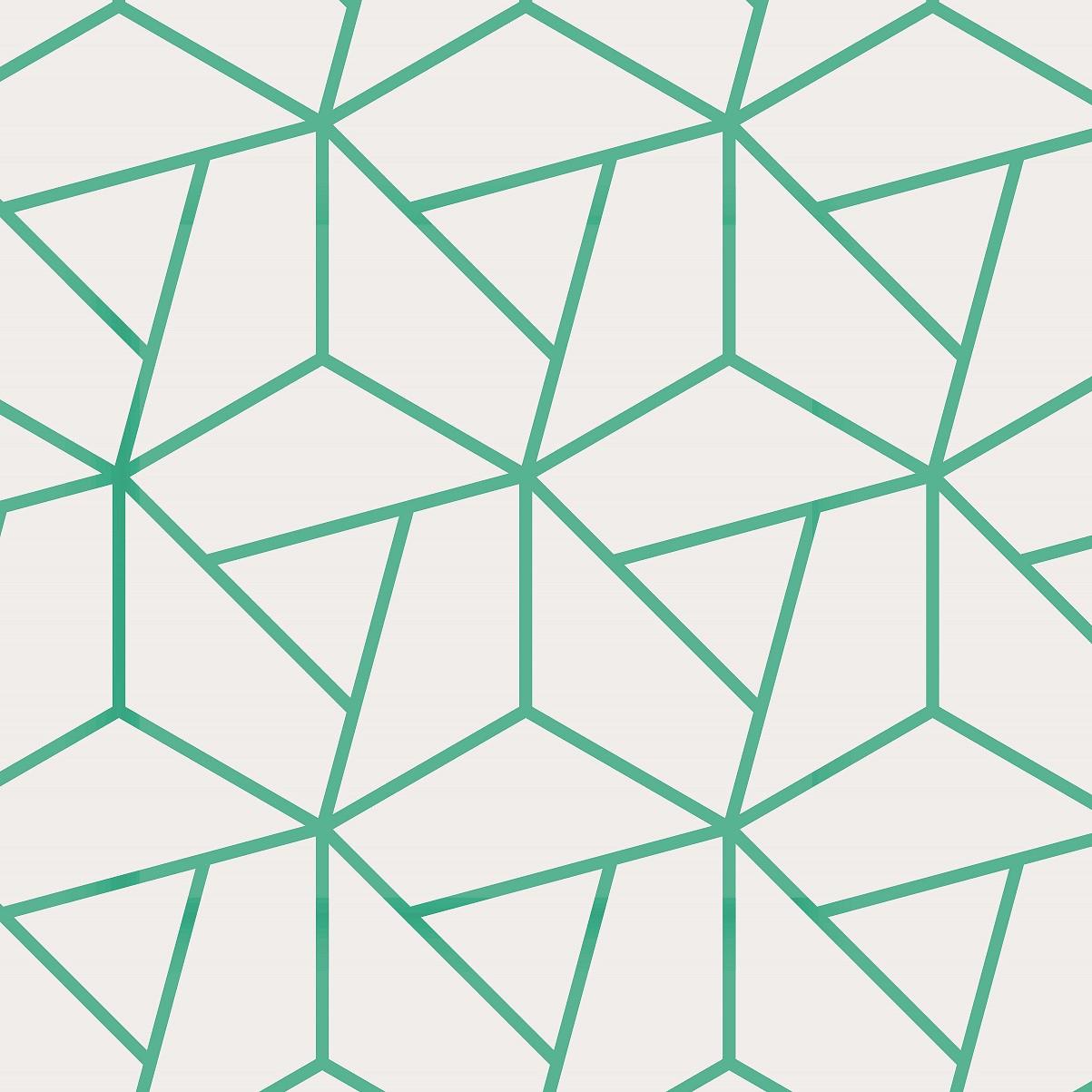 Papel de Parede ADESIVO - hexágono branco e verde