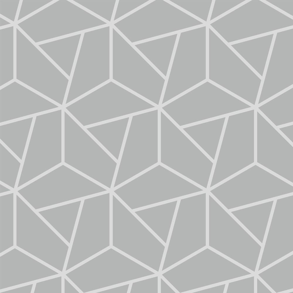 Papel de Parede ADESIVO - hexágono cinza