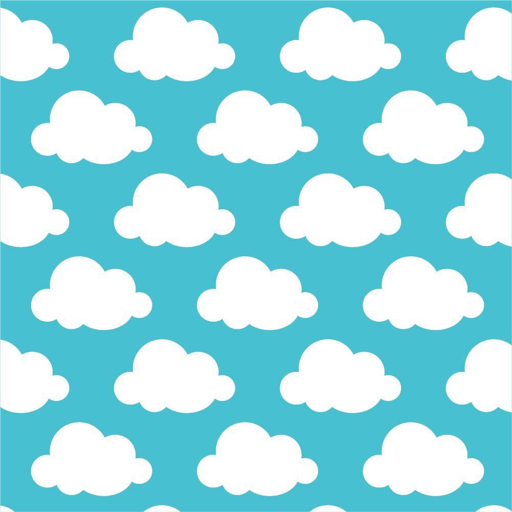 Papel de Parede ADESIVO - nuvens azuis