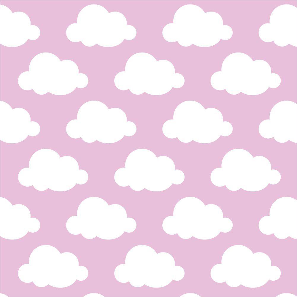 Papel de Parede ADESIVO - nuvens rosas