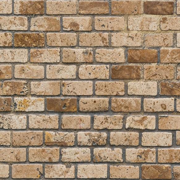 Papel de Parede ADESIVO - tijolo marrom