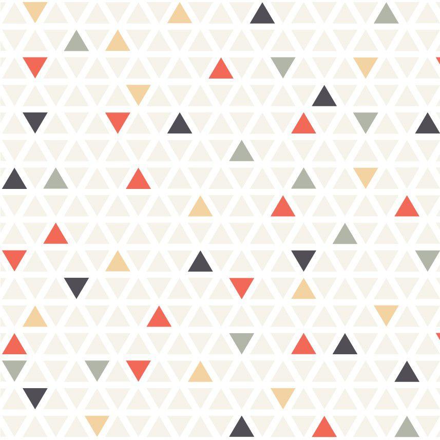 Papel de Parede ADESIVO - triângulos coloridos