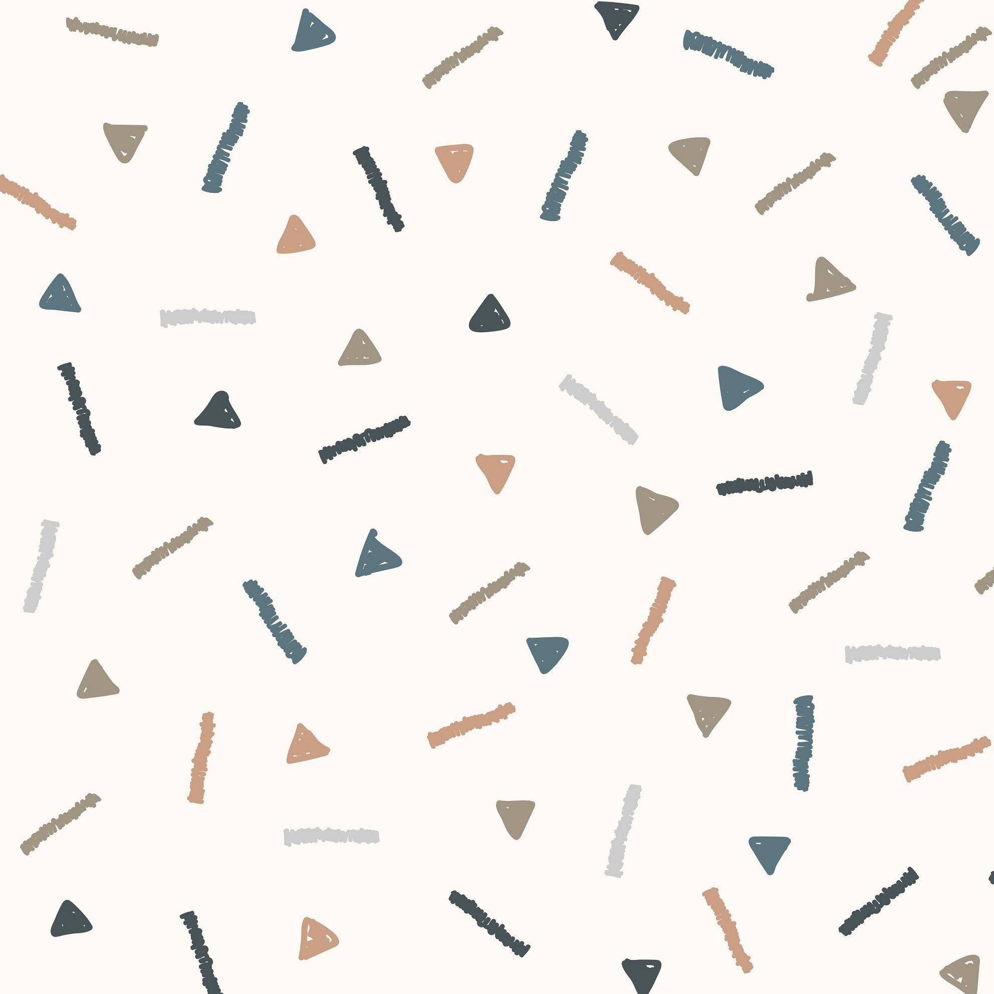 Papel de Parede ADESIVO - triângulos e riscos