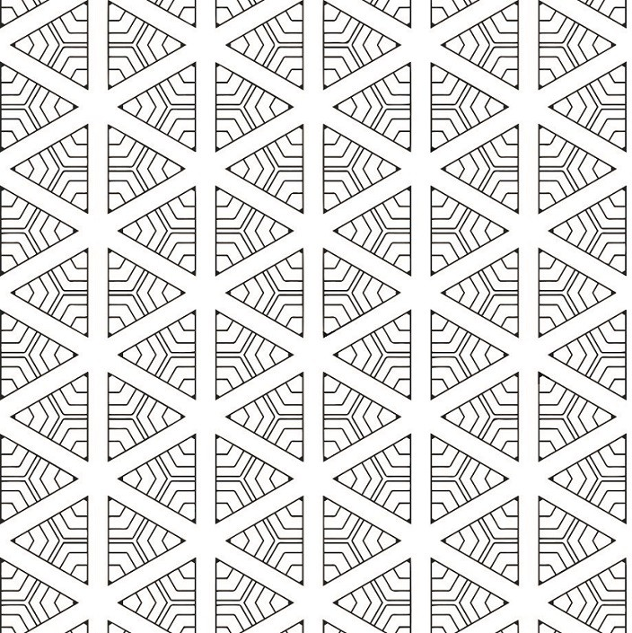 Papel de Parede ADESIVO - triângulos geométricos
