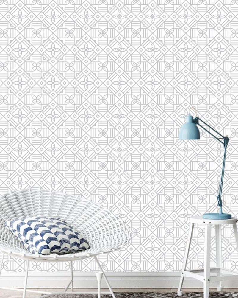 Papel de Parede ADESIVO - Geométrico Floral