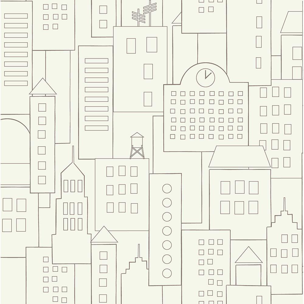 Papel de Parede ADESIVO - prédios