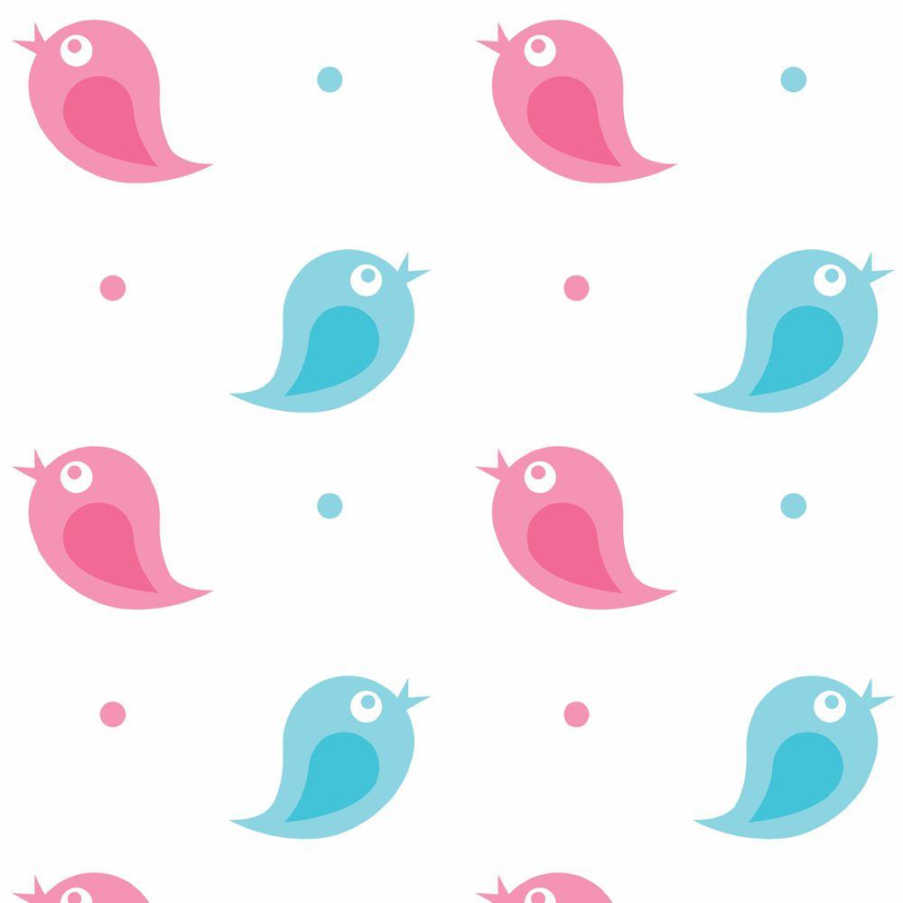 Papel de Parede ADESIVO  -  Pássaros