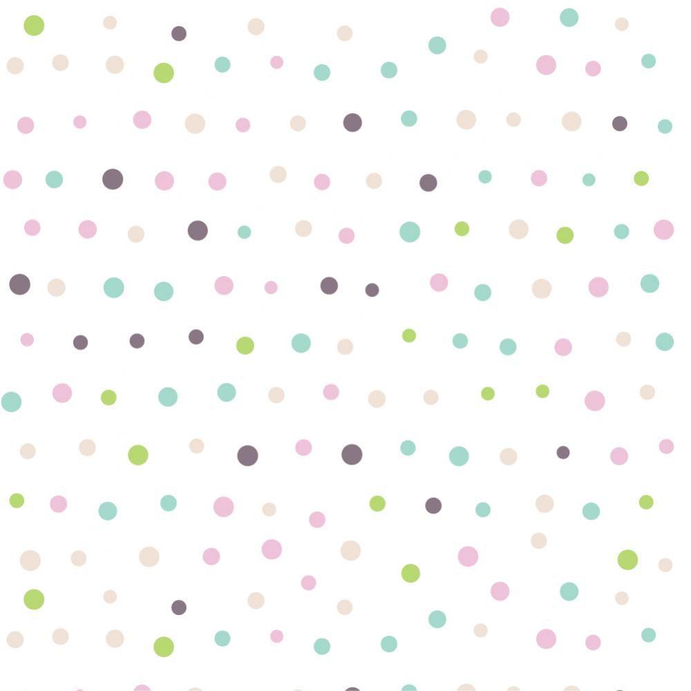 Papel de Parede Adesivo - Bolinhas aquareladas