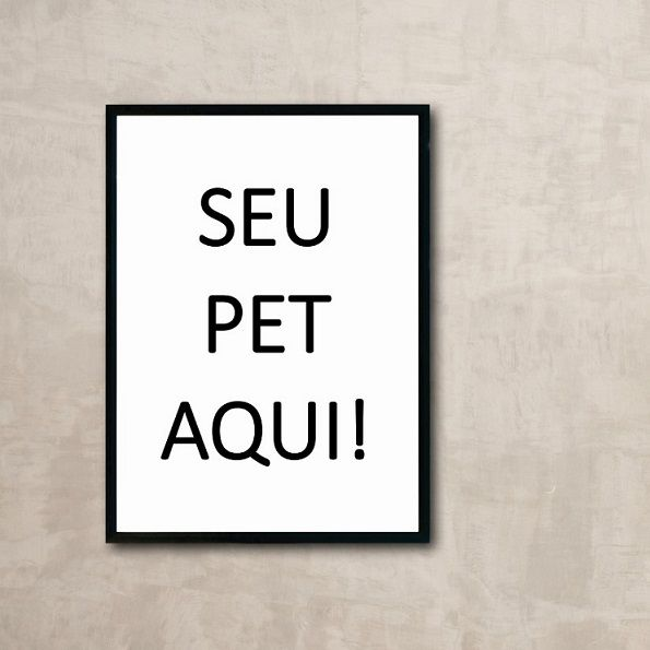 Placa decorativa PERSONALIZADA PET