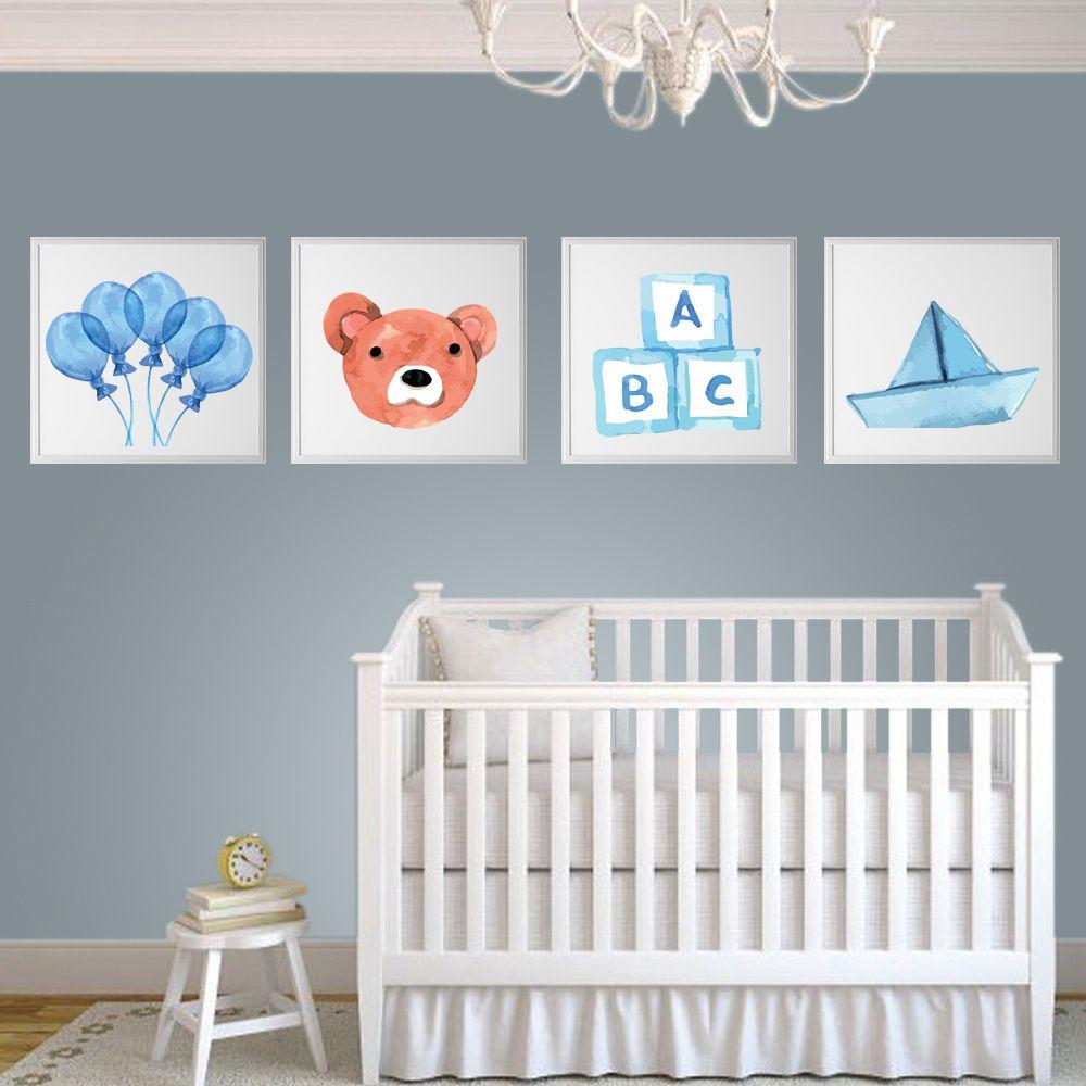 Placas decorativas em PVC - Bebê Menino
