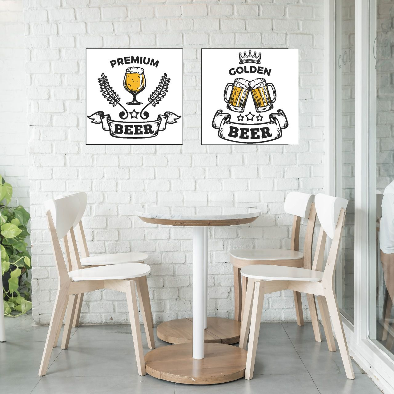 Placas decorativas em PVC - Beer