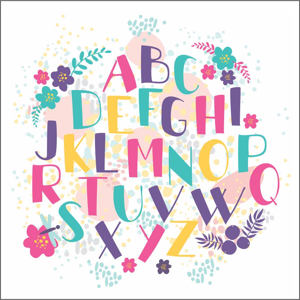 Placas decorativas em PVC - Alfabeto