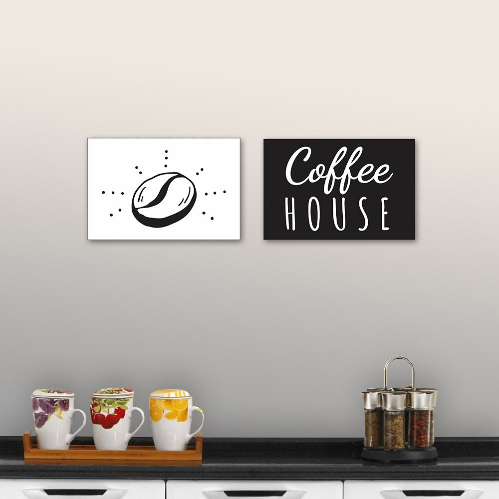 Placas decorativas em PVC - Coffee House