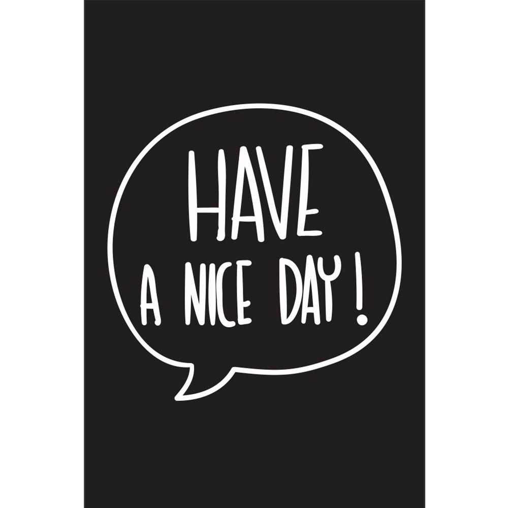 Placas decorativas em PVC - Have a Nice Day
