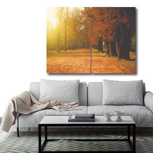 Placas decorativas em PVC - Floresta Laranja