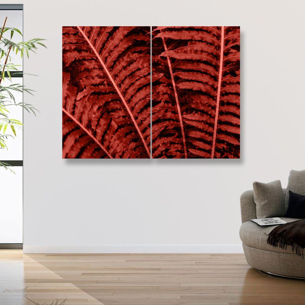 Placas decorativas em PVC - Folha Terra
