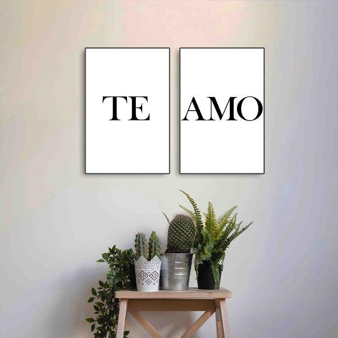 Placas decorativas em PVC - Te Amo