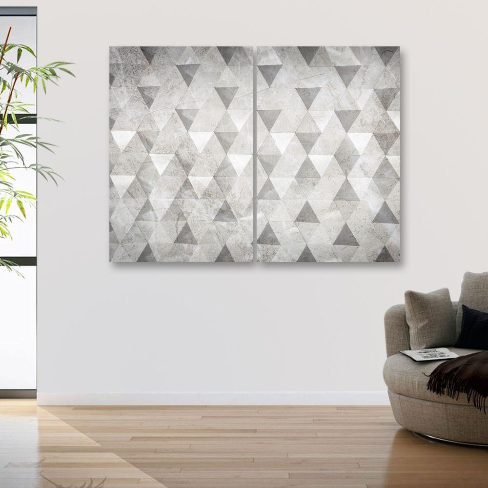 Placas decorativas em PVC - Triângulos