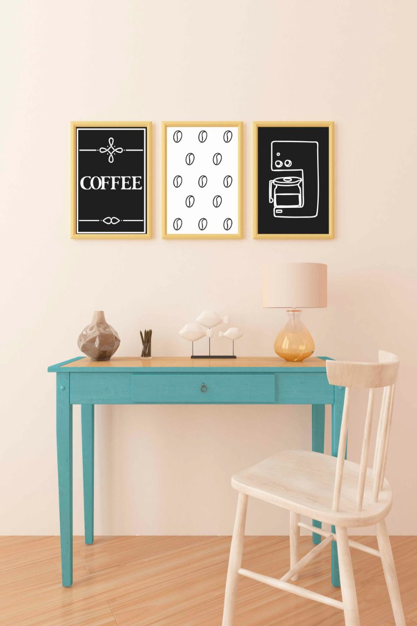 Placas decorativas em PVC - Coffee