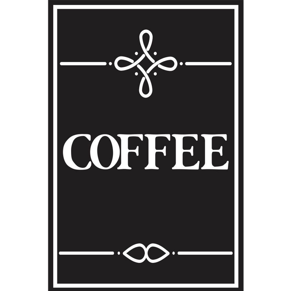 Placas decorativas em PVC - Coffee