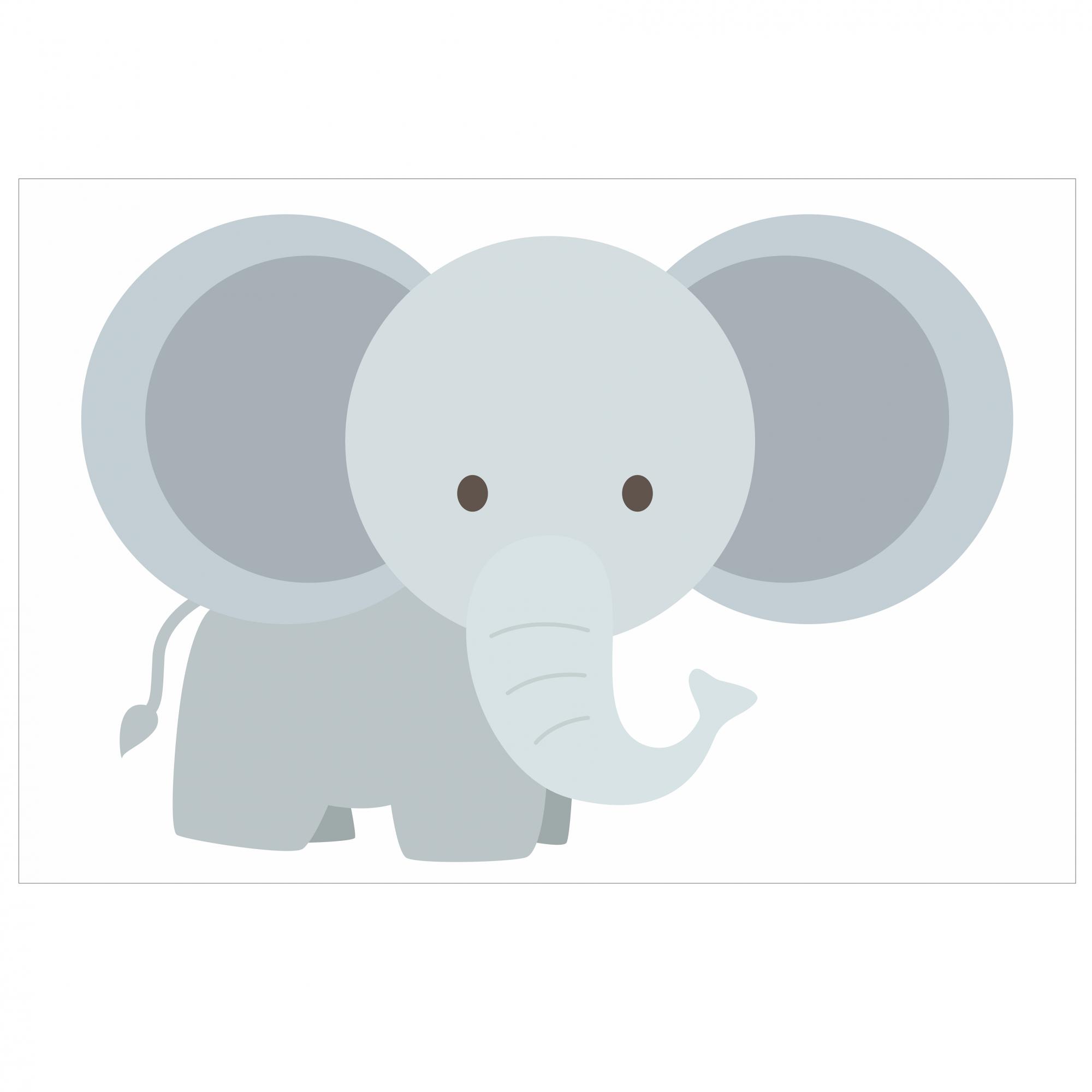 Placas decorativas em PVC - animais safari