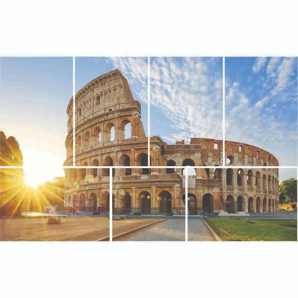 Placas decorativas em PVC - Coliseu