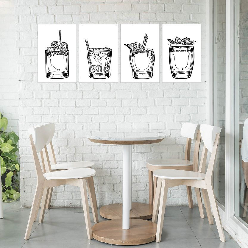 Placas decorativas em PVC - drinks