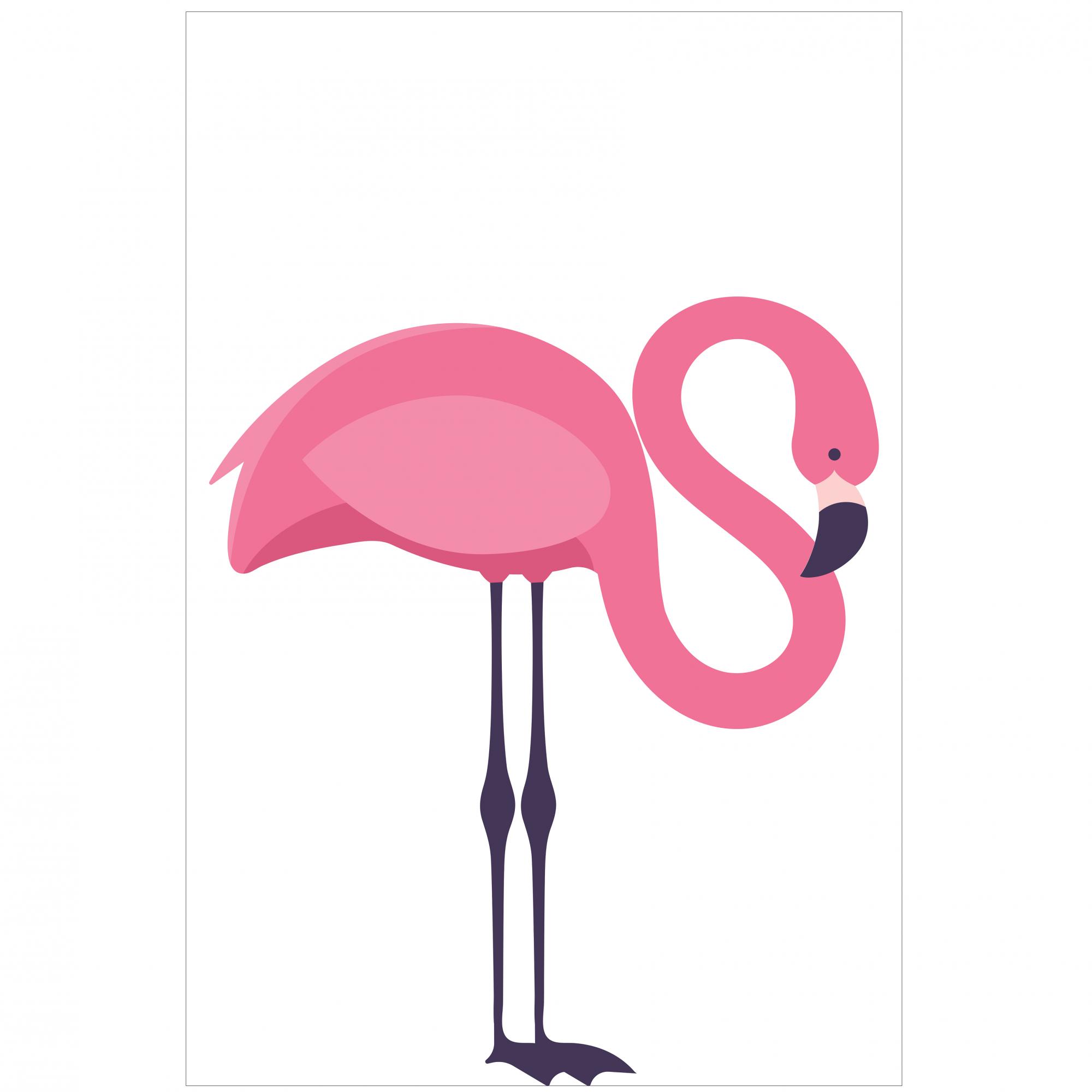Placas decorativas em PVC - flamingos