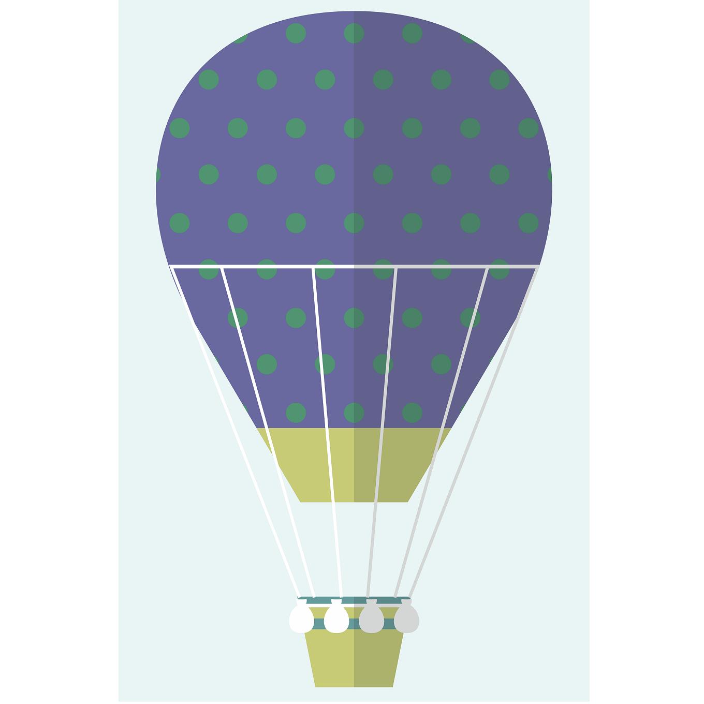 Placas decorativas em PVC - Kit 3 balões