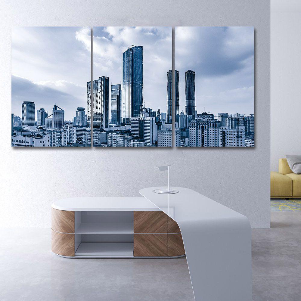 Placas decorativas em PVC - Kit 3unid. Cidades