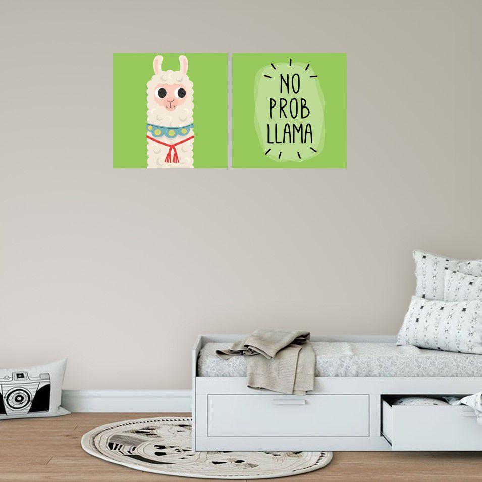 Placas decorativas em PVC - no prob llama