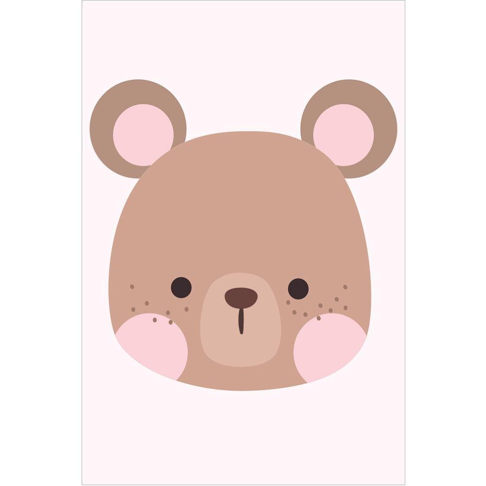 Placas decorativas em PVC - Urso / Coelho /  Raposa