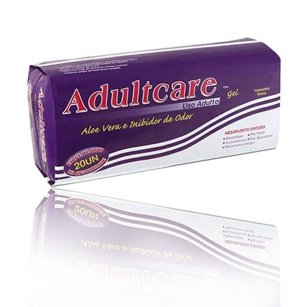 ABSORVENTE ADULTCARE - KIT 12 PACOTES C/ 20 UNIDADES