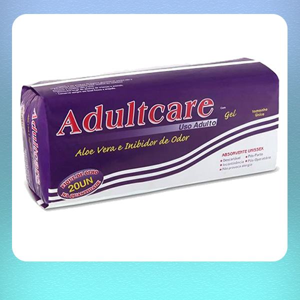 ABSORVENTE ADULTCARE - PACOTE C/ 20 UNIDADES