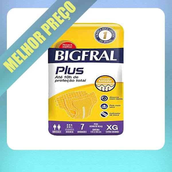 BIGFRAL PLUS TAM XG - PACOTE C/ 7 UNIDADES